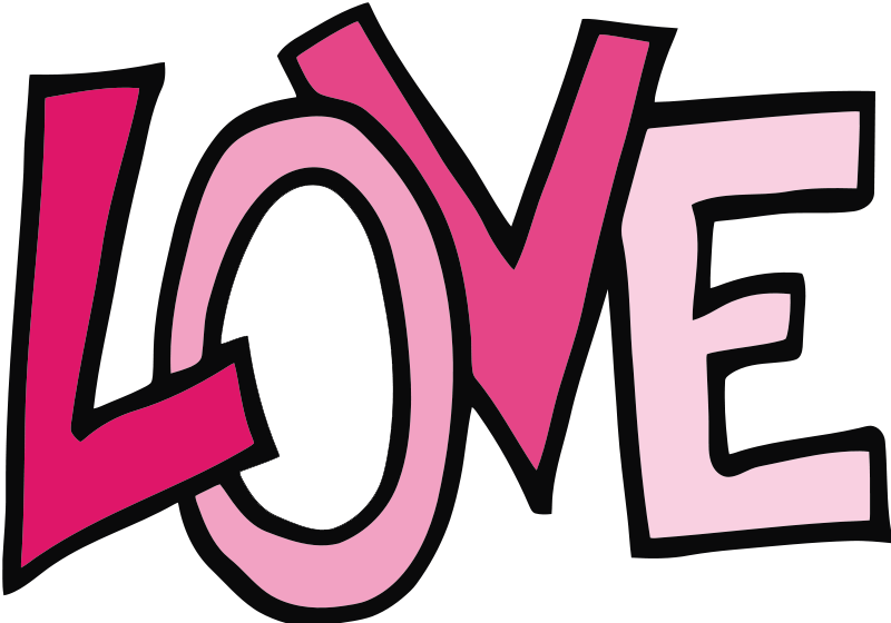 Word Clipart Love Text.