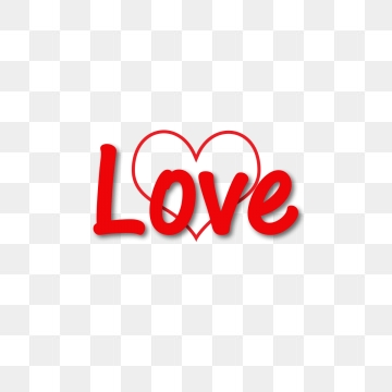 Love Word PNG Images.