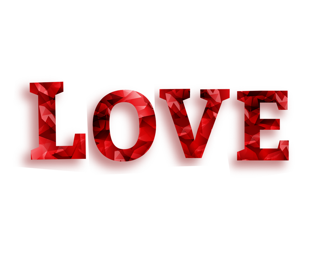 love png word transparent background image free png.