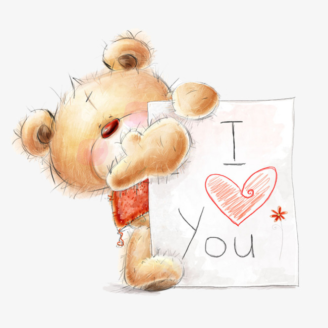 I Love You Bear Clipart.