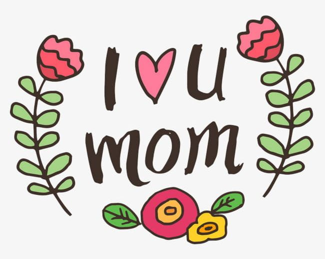 I Love You Mom PNG, Clipart, Characters, Element, English.