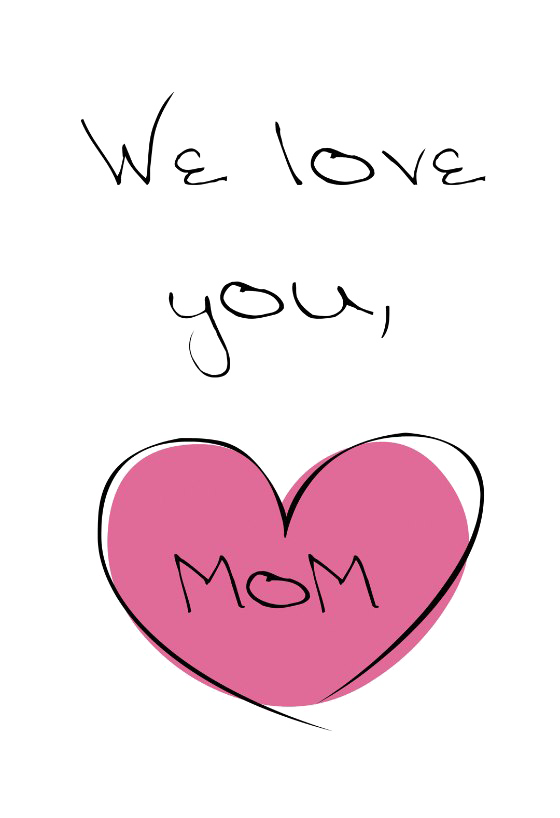 I Love You Mom PNG Transparent Images.