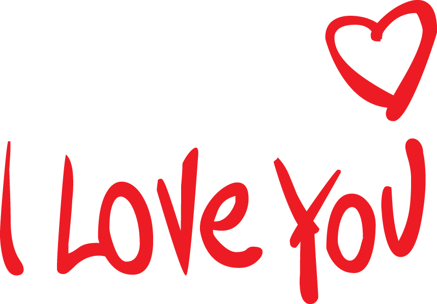 I Love You PNG Transparent Images, Pictures, Photos.