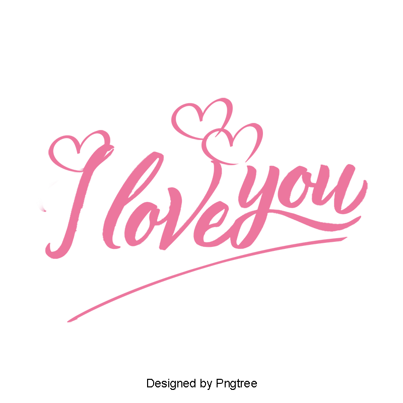I Love You Wordart, Love Clipart, Creative, Vector PNG.