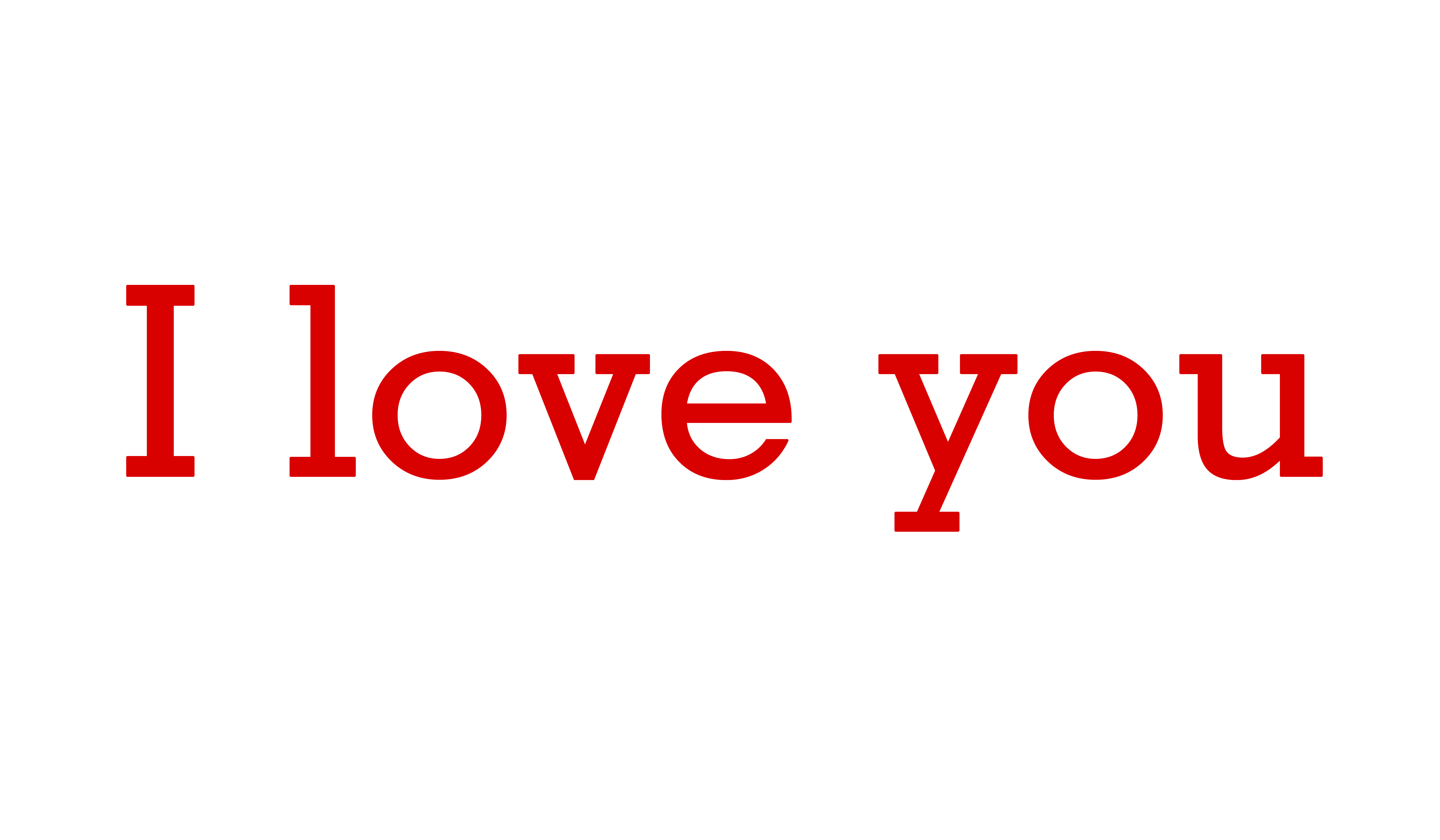 I love you PNG words download.