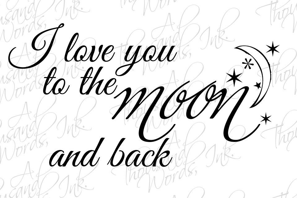 I Love you Word Art.