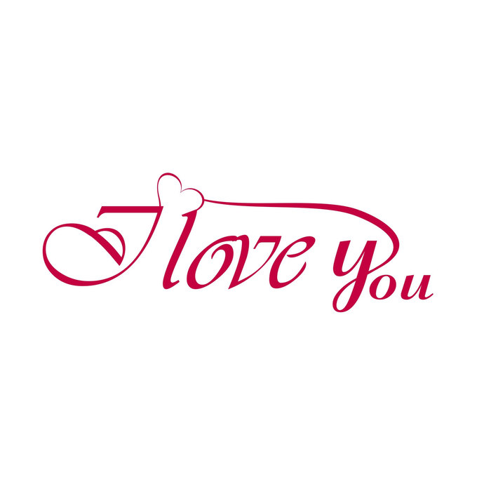I Love You Phrase quote Valentines Day Heart graphics design SVG DXF EPS  Png Cdr Ai Pdf Vector Art Clipart instant download Digital Cut File.