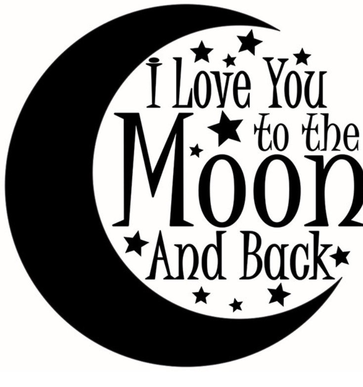 Love you to the moon and back clipart 7 » Clipart Station.