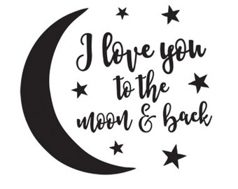 Love you to the moon and back clipart 6 » Clipart Station.