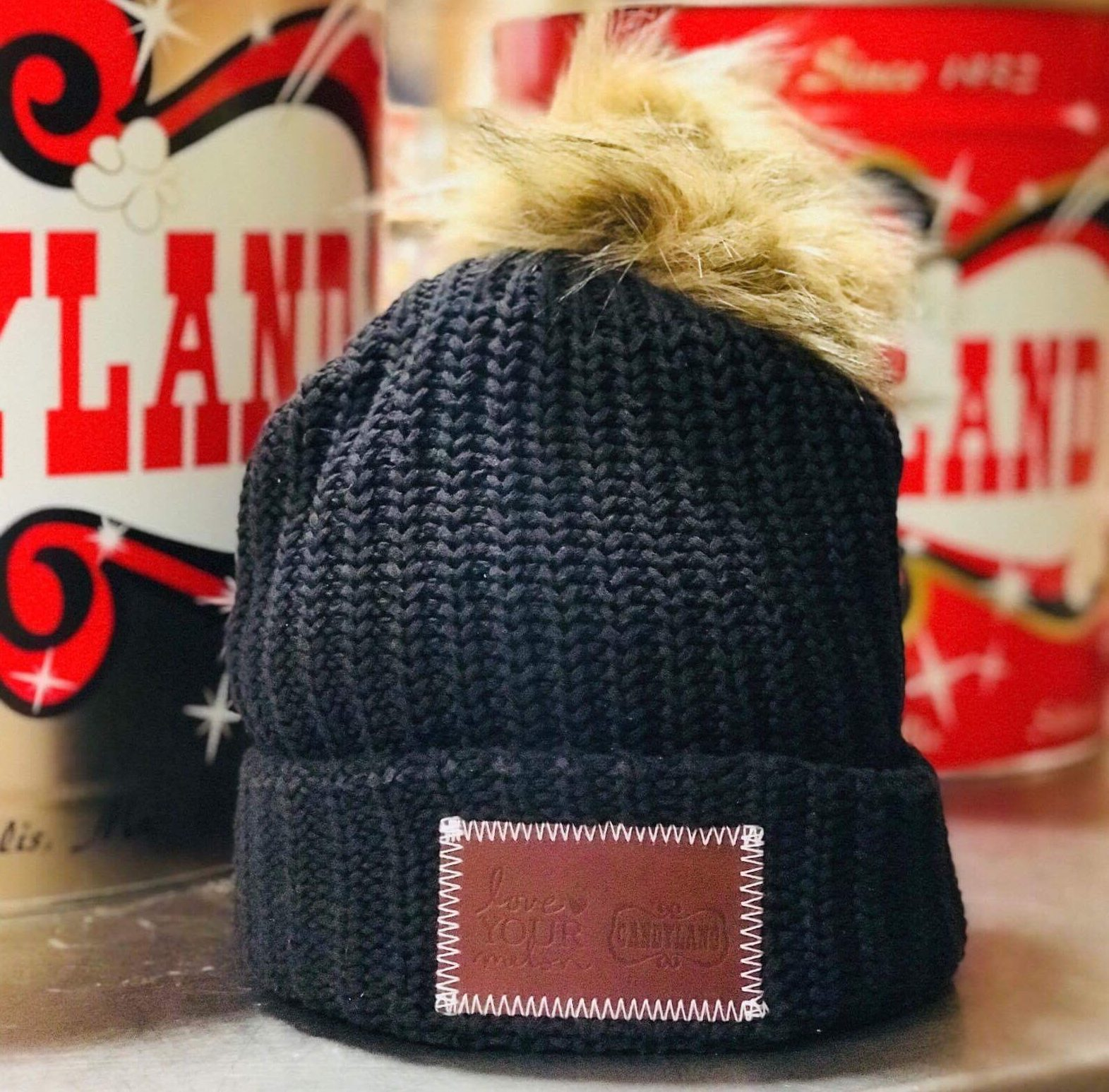 Black Love Your Melon + Candyland POM Beanie.