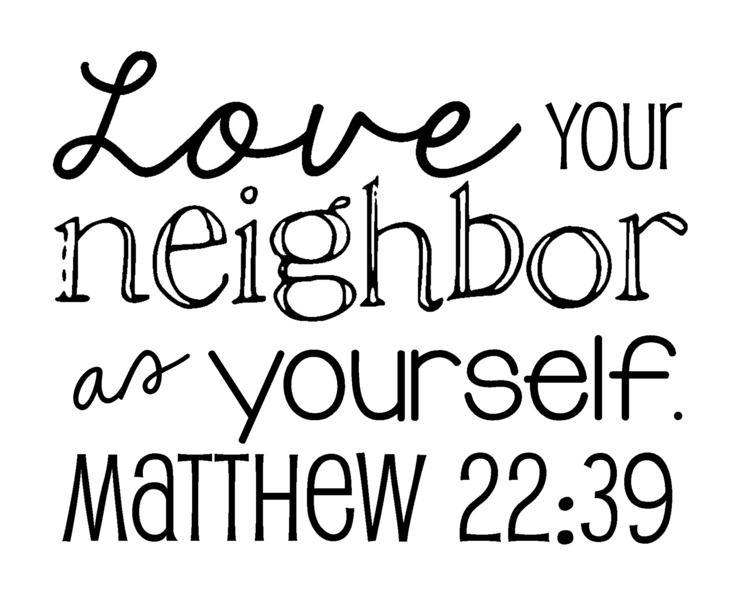 Love Your Neighbor As Yourself Clipart.