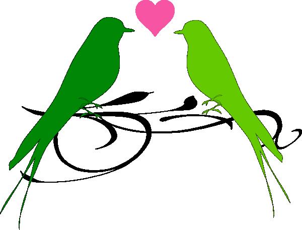 Love Birds Clip Art.