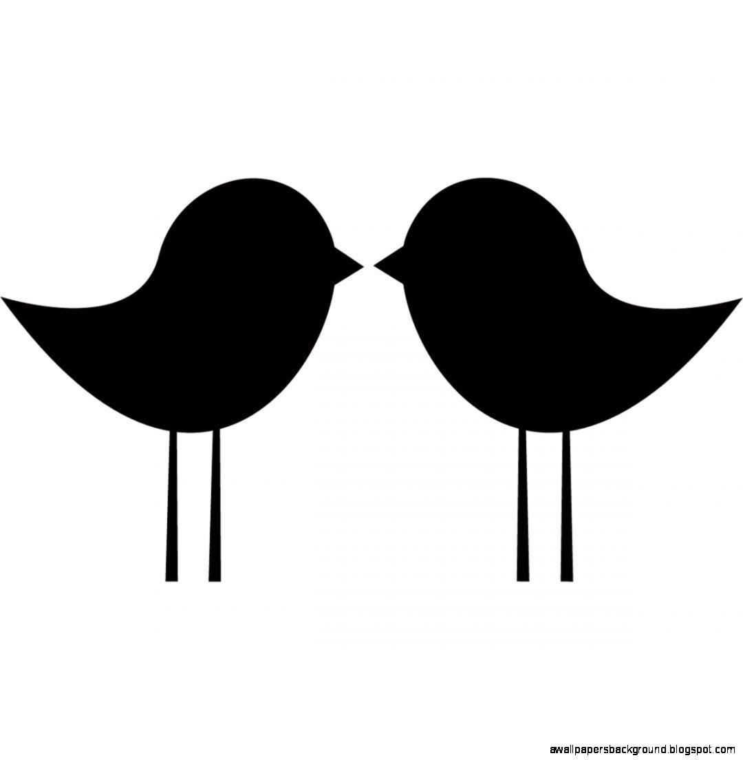 Love Birds Clip Art Silhouette.