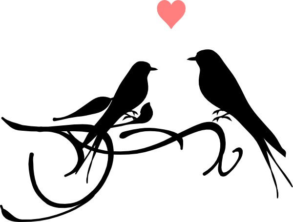 Love Birds Clipart Black And White.