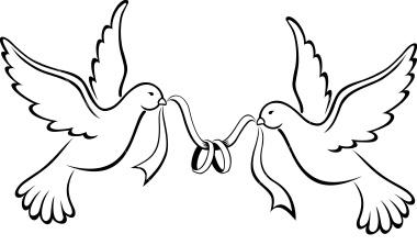 Love Birds For Wedding Clipart.