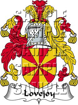 Lovejoy Family Crest apparel, Lovejoy Coat of Arms gifts.
