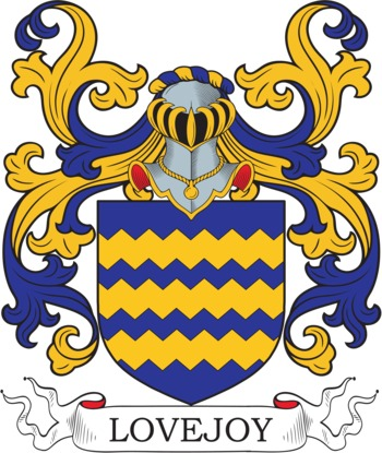 Lovejoy Coat of Arms Meanings and Family Crest Artwork.