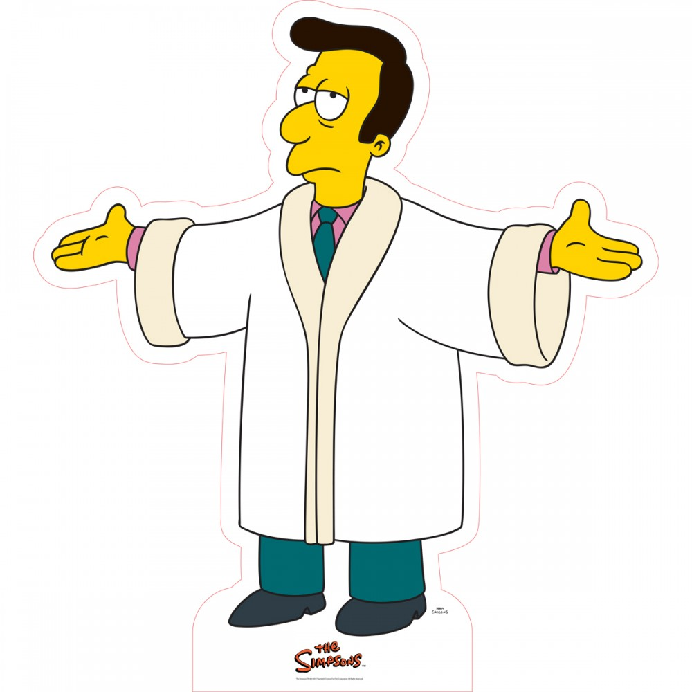 The Simpsons Reverend Lovejoy Cardboard Stand.