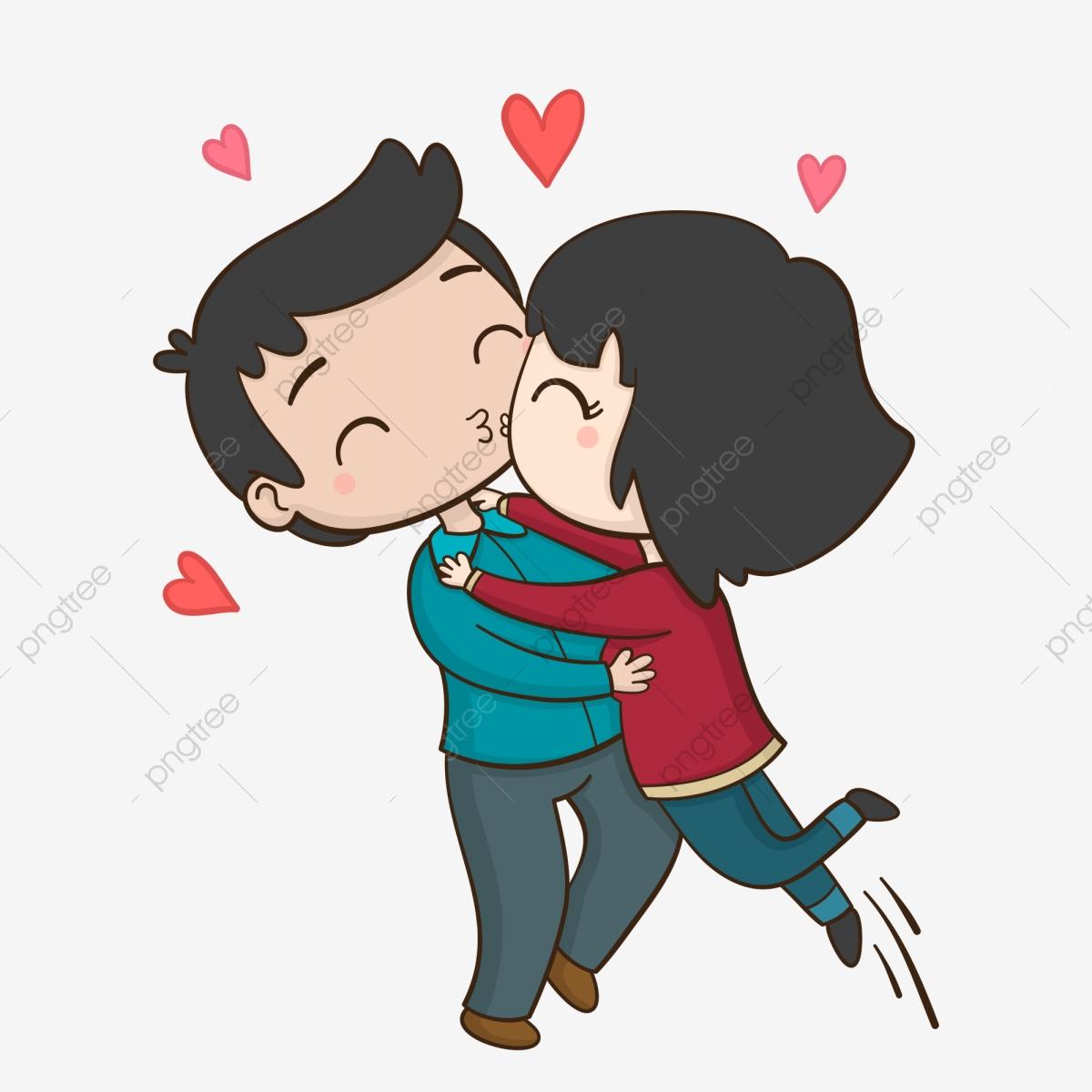 Lovely Couple Couple Kissing Cute Kissing Kissing Couple.