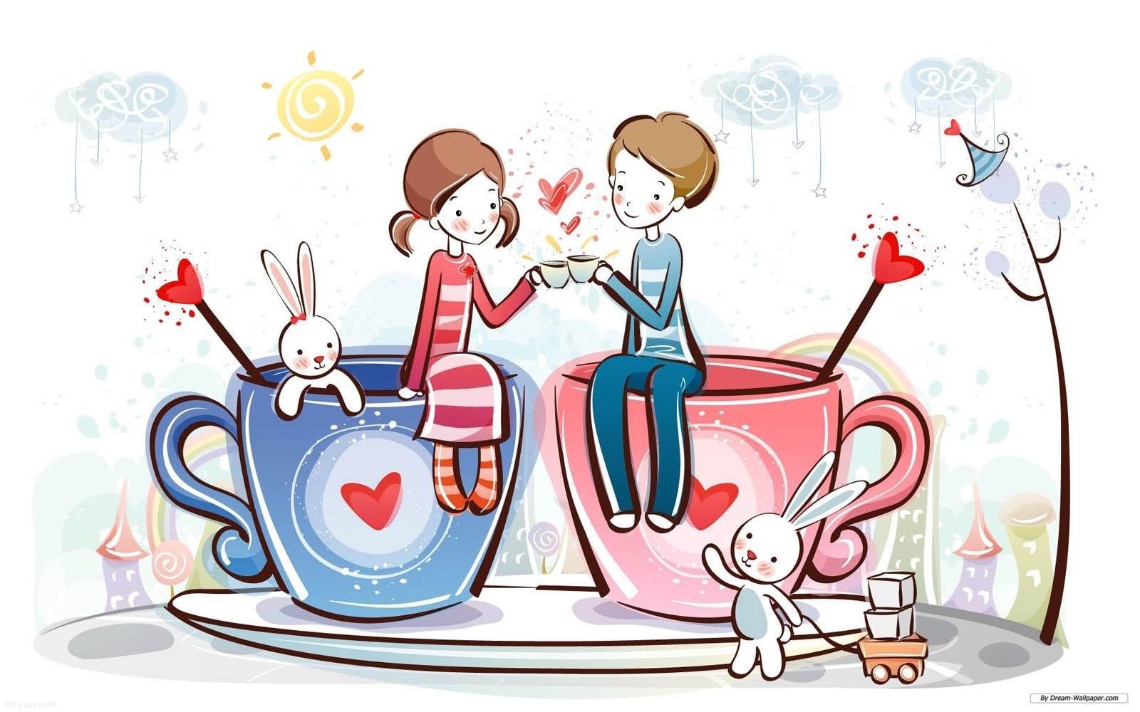Free Cute Cartoon Couple, Download Free Clip Art, Free Clip.