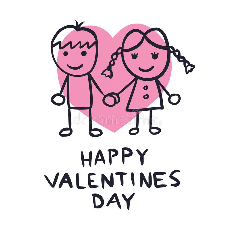 Cute Couple Stock Illustrations.