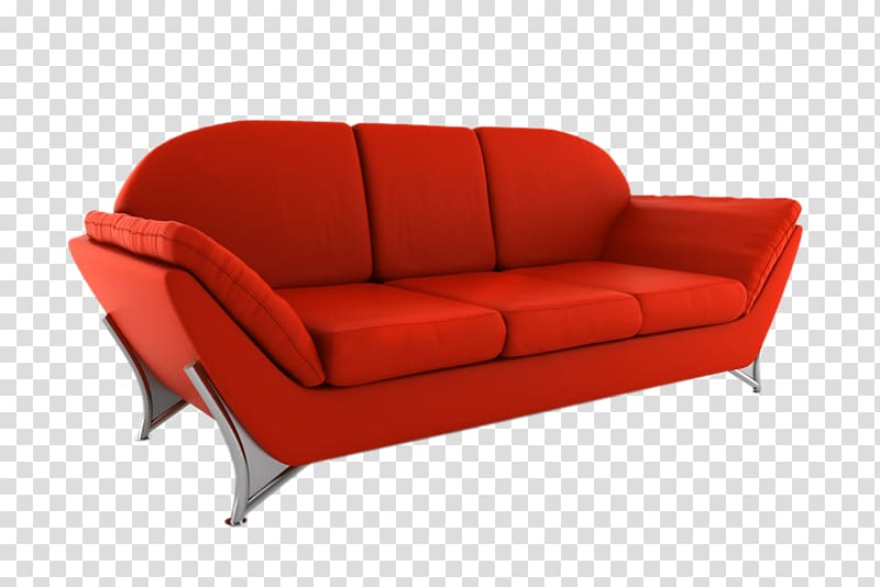 Couch Furniture Office Loveseat Chair, Red sofa transparent.