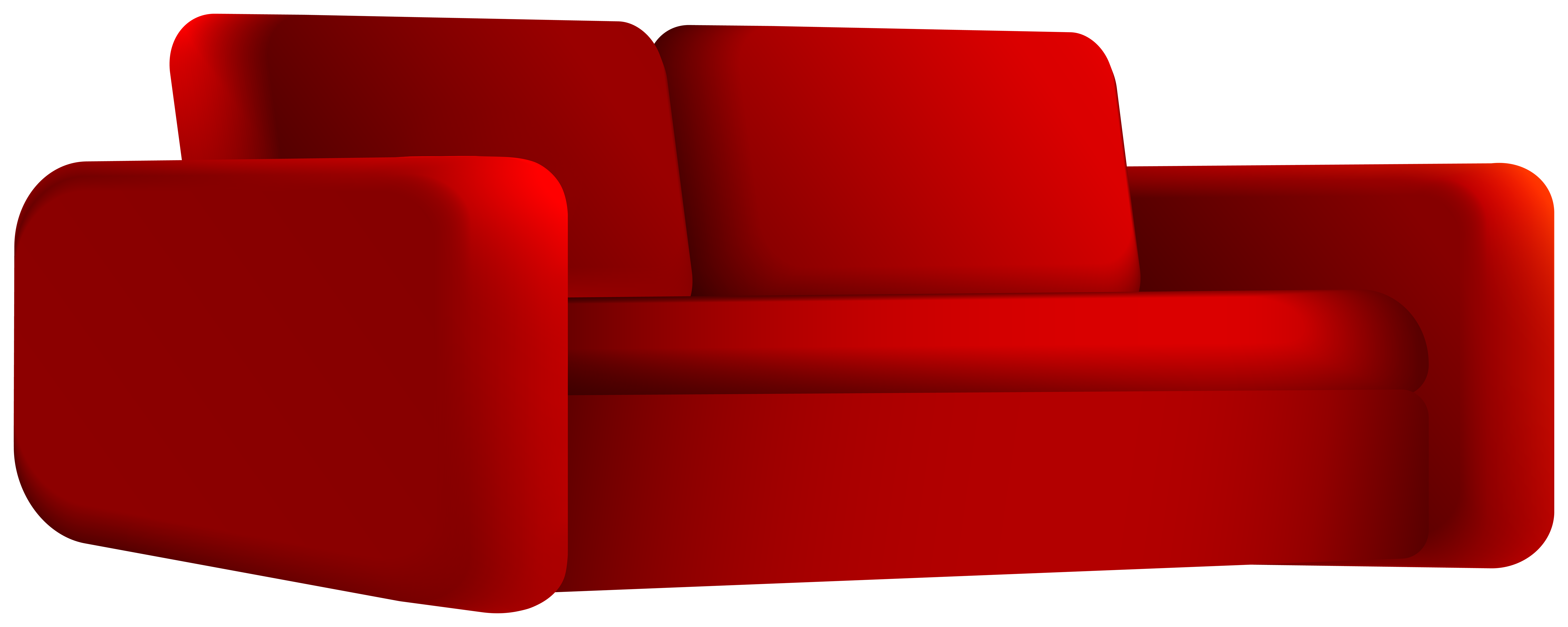 Loveseat Red PNG Clipart.