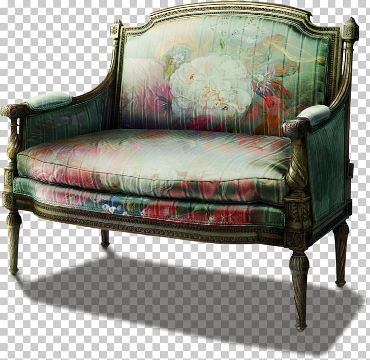 Loveseat Couch , chair PNG clipart.