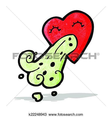 Clipart of cartoon love sick heart k22248943.