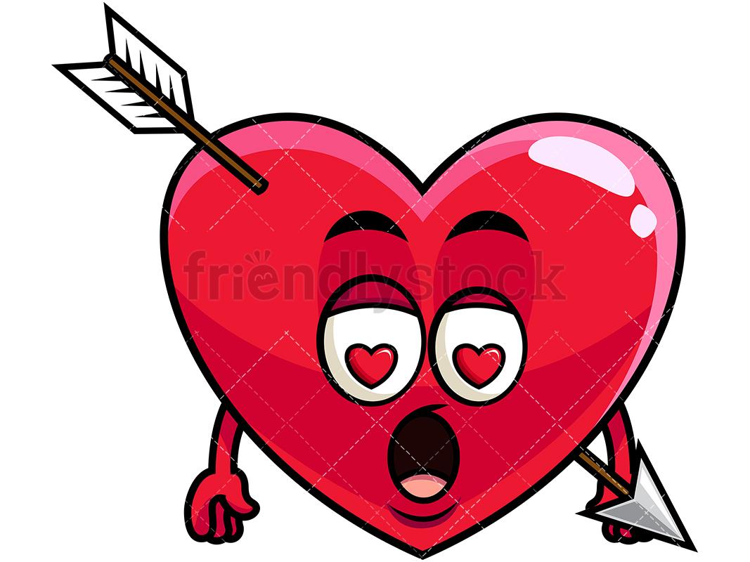 Lovestruck Heart Emoji.