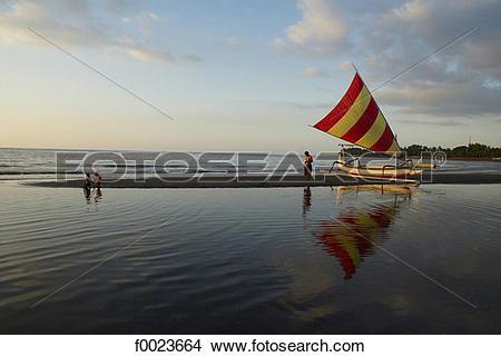 Stock Photo of Indonesia, Bali, Lovina Beach f0023664.