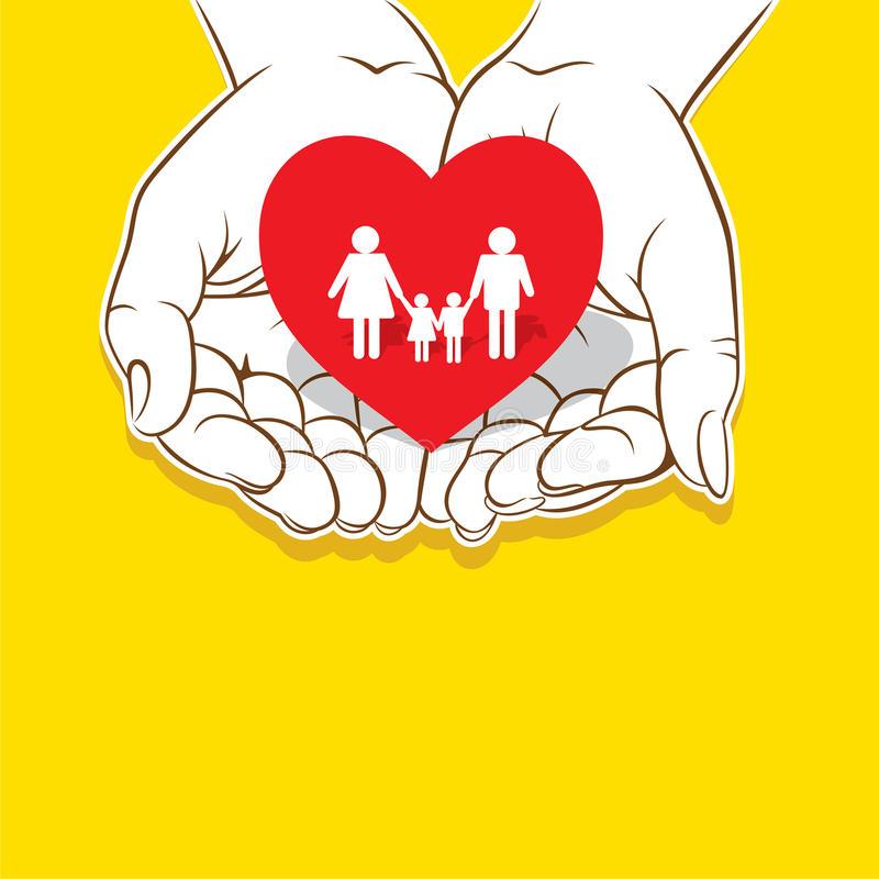 Loving Family Stock Illustrations.