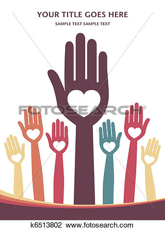 Clipart of Loving hands design. k6513802.