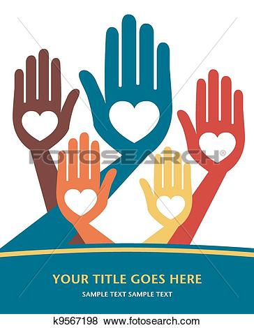 Clip Art of Loving hands design. k9567198.