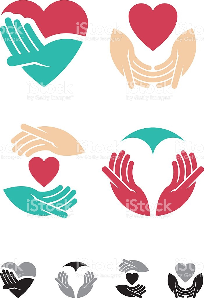 Loving Hands stock vector art 484534266.