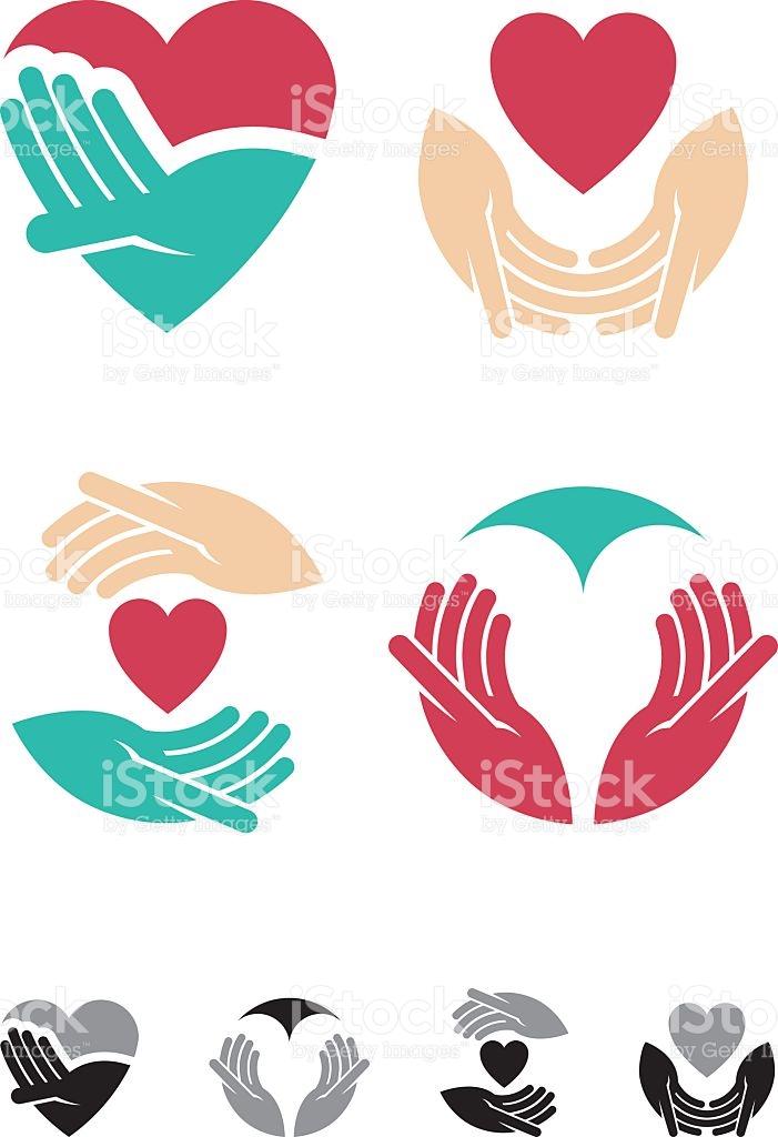 Loving Hands stock vector art 484534266.