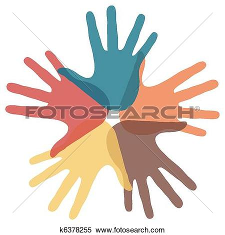 Clipart of Circle of loving hands. k6378255.
