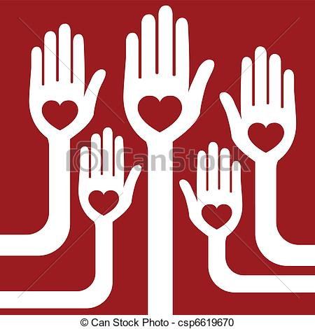 Vector Clipart of Loving hands design..