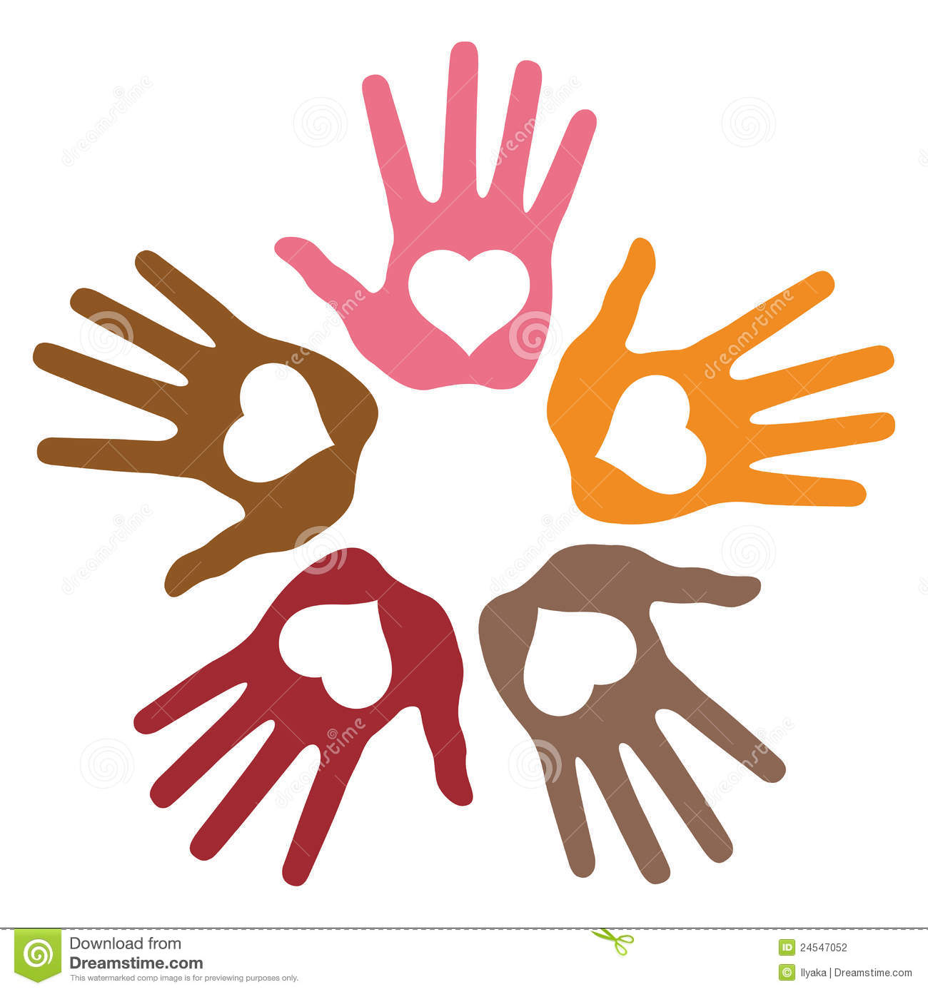 Loving Hands Clipart.