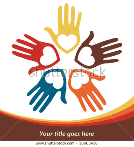 Circle Loving Hands Stock Vector 61970359.