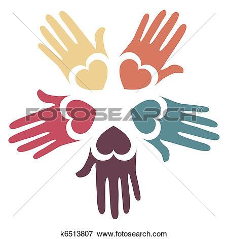 Clip Art of Loving hands design. k6513807.