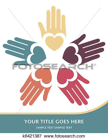 Clip Art of Loving hands design vector. k6421387.