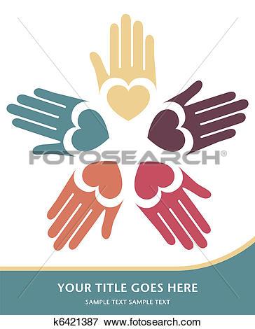 Clip Art of Loving hands design vector. k6421387.