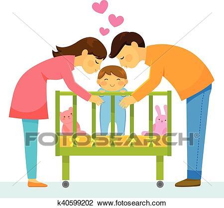 Loving parents Clipart.