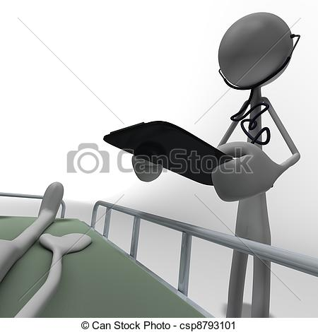Clipart of doctor with clpboard.