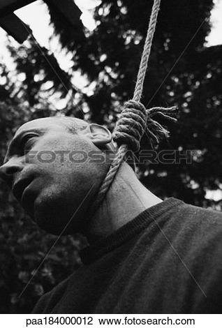 Stock Photo of Hanged man, close.