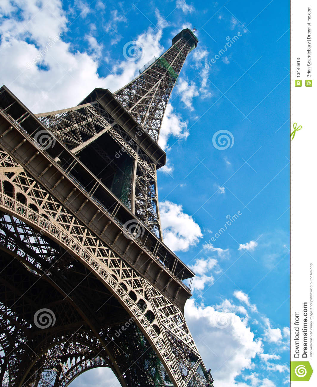 Eiffel Tower, Low Angle Shot. Stock Photos.