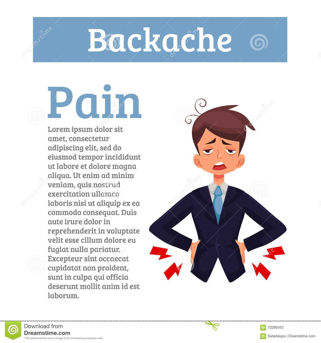 Low Back Pain Cartoon.