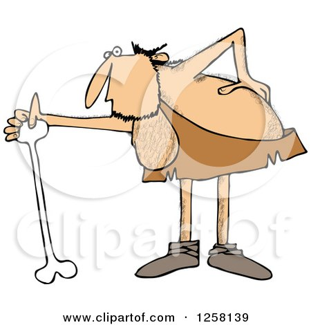 Clipart Picture of a Businessman Cracking and Injuring His Lower.