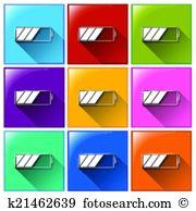 Lowbat Clip Art Illustrations. 7 lowbat clipart EPS vector.